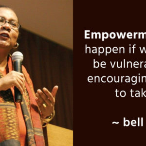 Empowerment cannot happen if we refuse to be vulnerable while encouraging our students to take risk. ~bell hooks